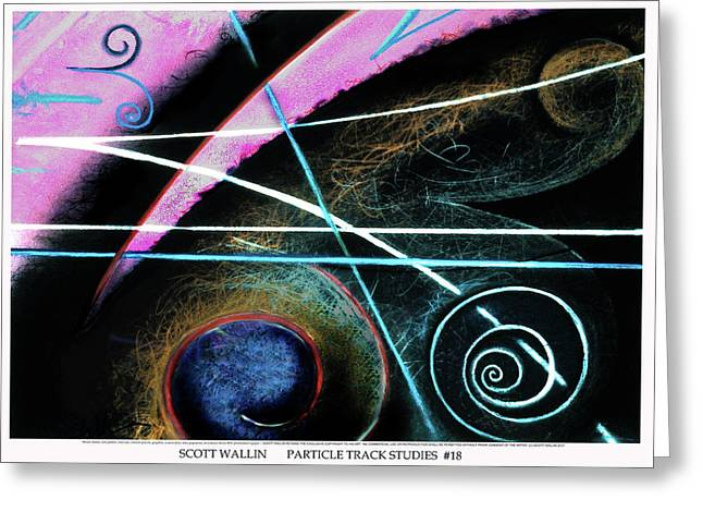 Particle Track Study Eighteen Greeting Card by Scott Wallin