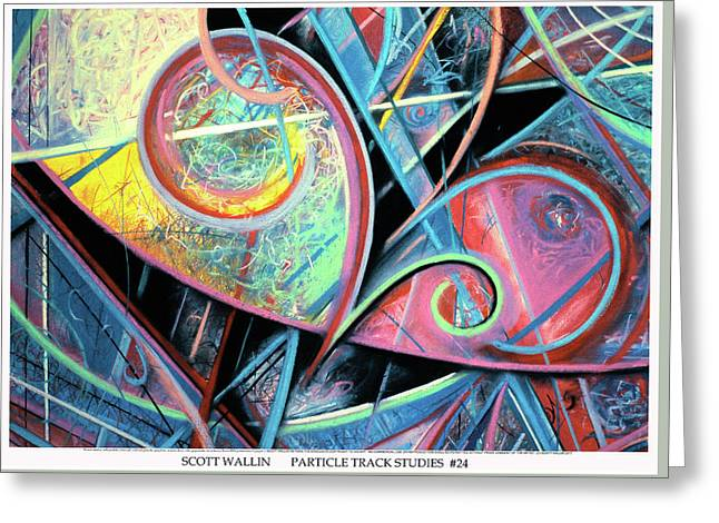 Particle Track Study Twenty-four Greeting Card by Scott Wallin