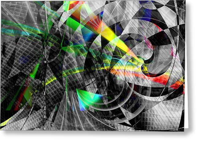 Particles Of Light Dancing Greeting Card