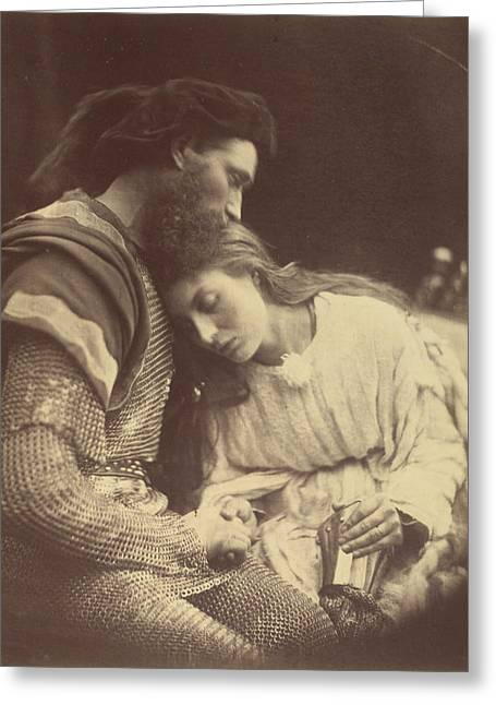 Parting Of Sir Lancelot Greeting Card by Julia Margaret