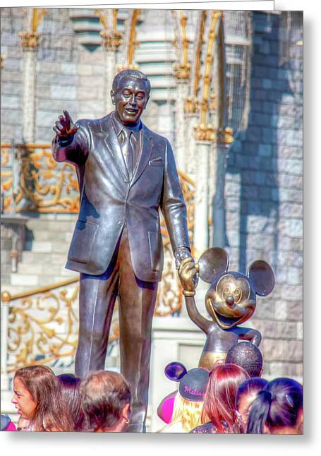Greeting Card featuring the photograph Partners Statue by Mark Andrew Thomas