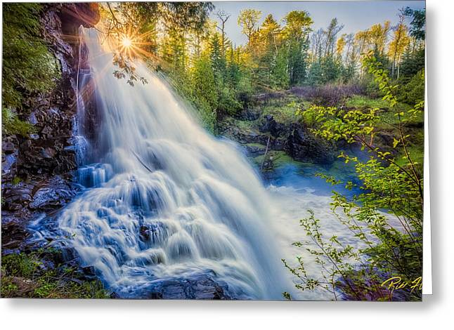 Greeting Card featuring the photograph Partridge Falls In Late Afternoon by Rikk Flohr