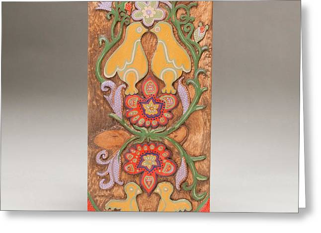 Woodworking Reliefs Greeting Cards - Partridge in a Pear Tree Greeting Card by James Neill
