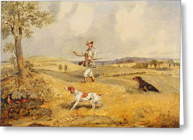 Partridge Shooting  Greeting Card by Henry Thomas Alken