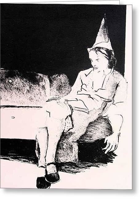 Party Alone Greeting Card by Brad Wilson