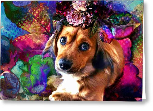 Greeting Card featuring the digital art Party Animal by Delight Worthyn