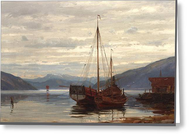 Party From Balestrand Greeting Card by Amaldus Nielsen