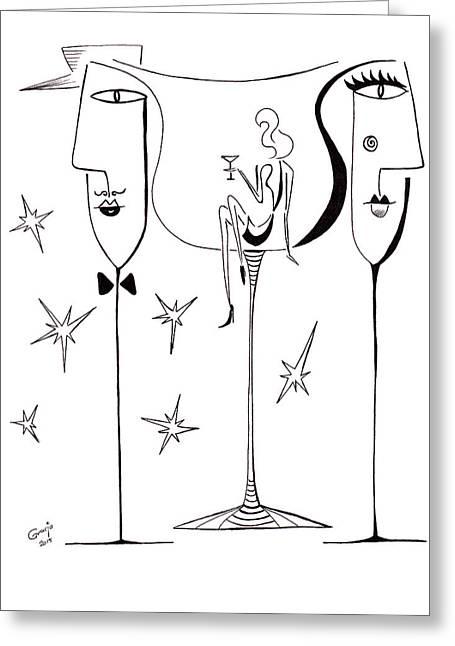 Party Greeting Card by Gracja Waniewska