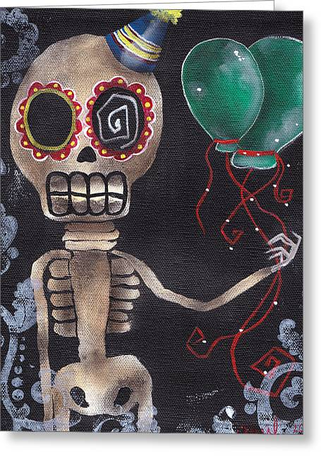 Party Killer Greeting Card by  Abril Andrade Griffith