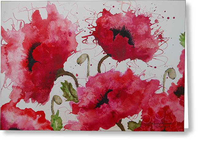 Party Poppies Greeting Card