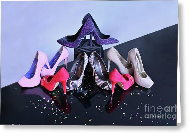 Party Shoes Greeting Card by Terri Waters