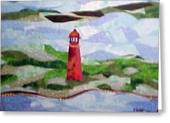 Louisiana Tapestries - Textiles Greeting Cards - Pas a LOutre Lighthouse Greeting Card by Charlene White