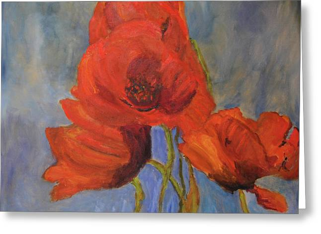 Pas De Poppies Greeting Card by Michael Helfen