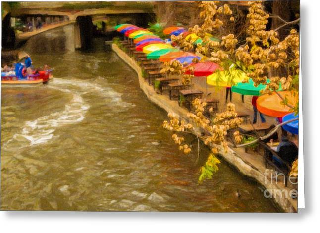 Paseo Del Rio Greeting Card by Jon Burch Photography