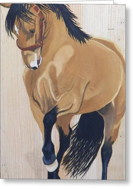 Paso Fino Greeting Card by Debbie LaFrance