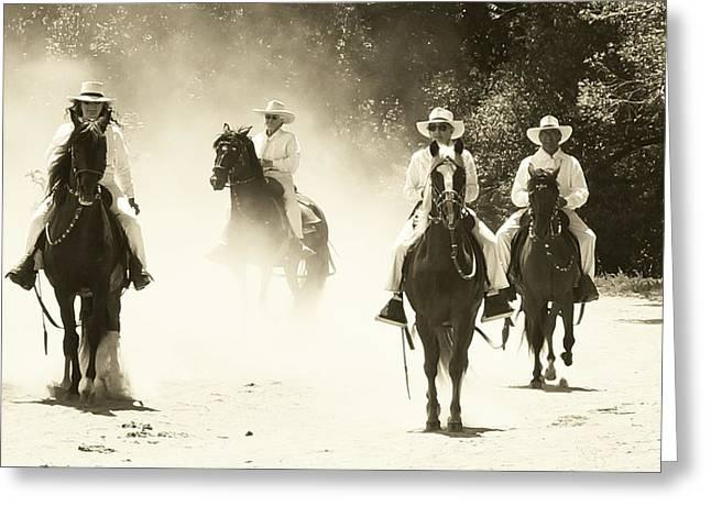 Paso Horse Riders Greeting Card by Joseph Frank Baraba