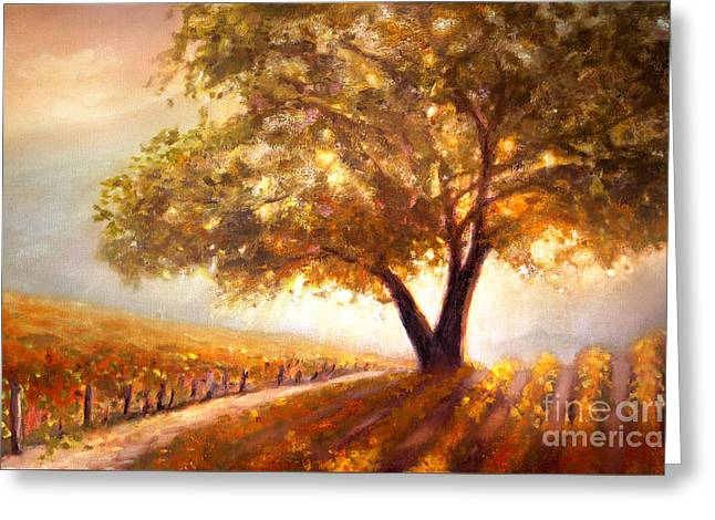 Paso Robles Golden Oak Greeting Card by Michael Rock