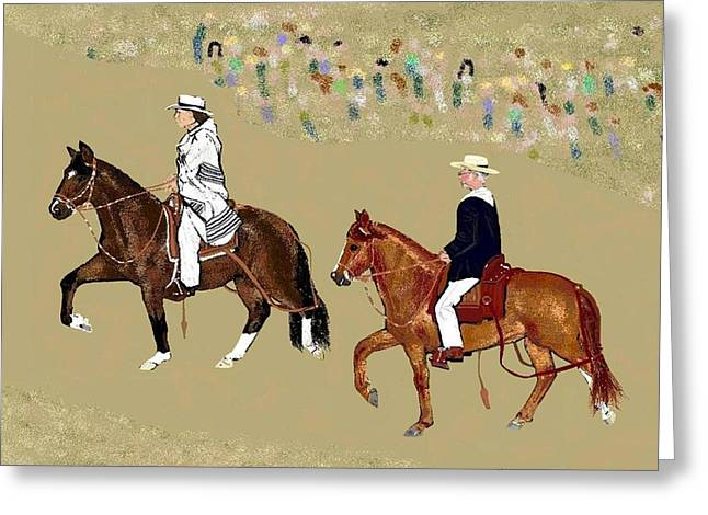 Pasos On Parade Greeting Card by Carole Boyd