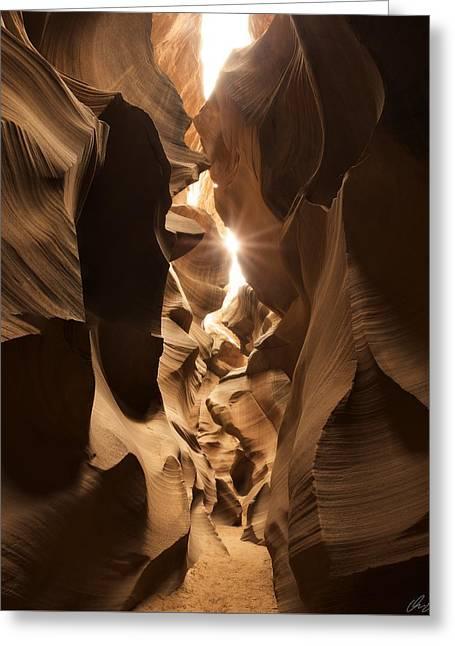Passage At Antelope Canyon Greeting Card