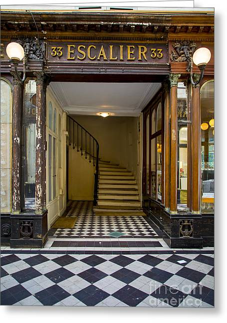 Passage Covert Escalier Greeting Card