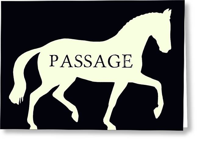 Passage Negative Greeting Card