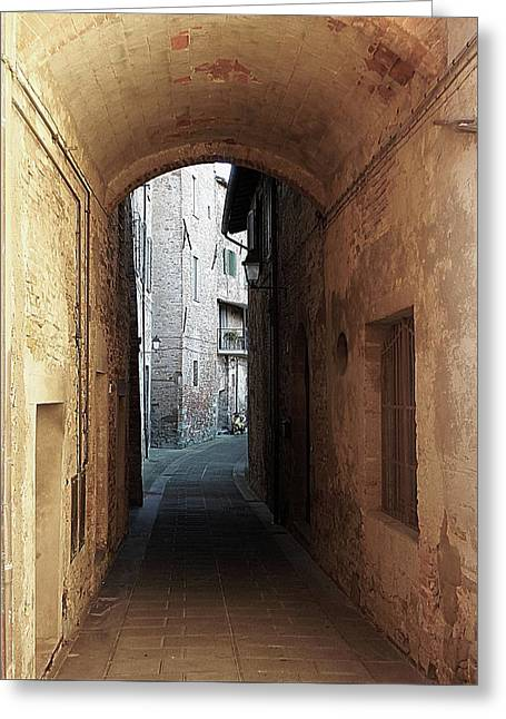 Passageway Low Colour Panicale Umbria Greeting Card