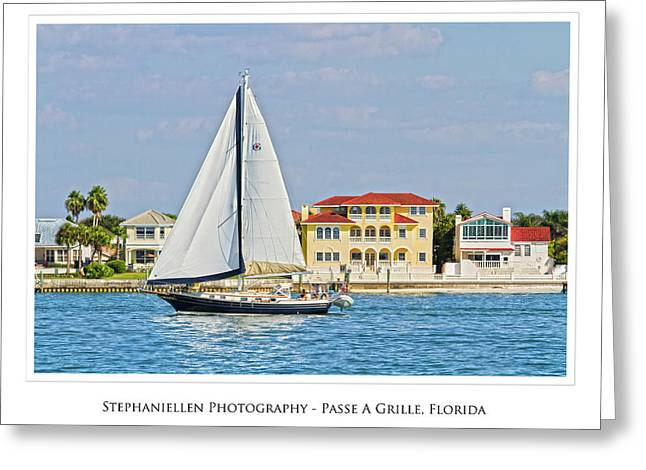 Passe A Grille Sailboat Greeting Card by Stephanie Hayes