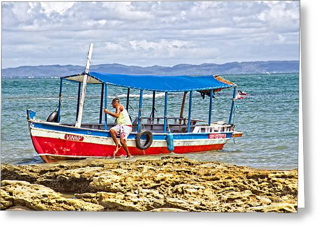 Greeting Card featuring the photograph Passenger Boat by Kim Wilson