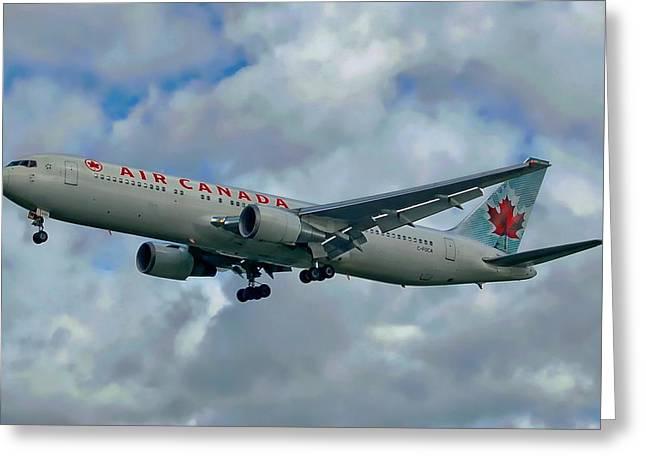 Passenger Jet Plane Greeting Card