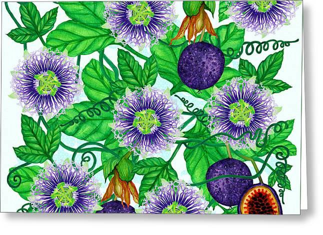Passiflora Edulis Greeting Card