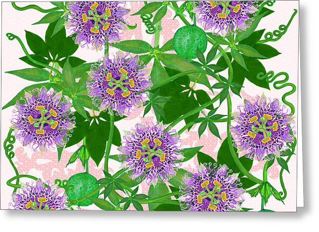 Passiflora Incarnata Greeting Card