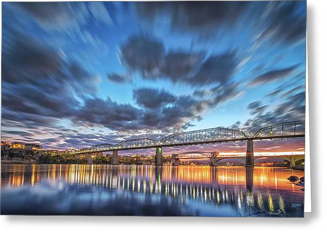 Passing Clouds Above Chattanooga Greeting Card by Steven Llorca