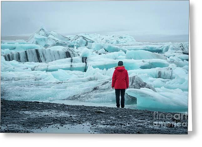 Passing Icebergs  Greeting Card