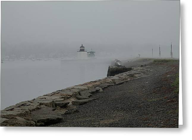 Greeting Card featuring the photograph Passing In The Fog by Jeff Folger