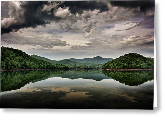Passing Storm Over Lake Hiwassee Greeting Card by Greg Mimbs