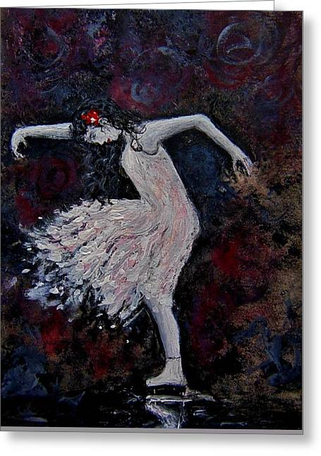 Greeting Card featuring the painting Passion... by Cristina Mihailescu