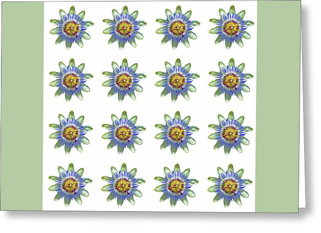 Passion Flower Design Greeting Card
