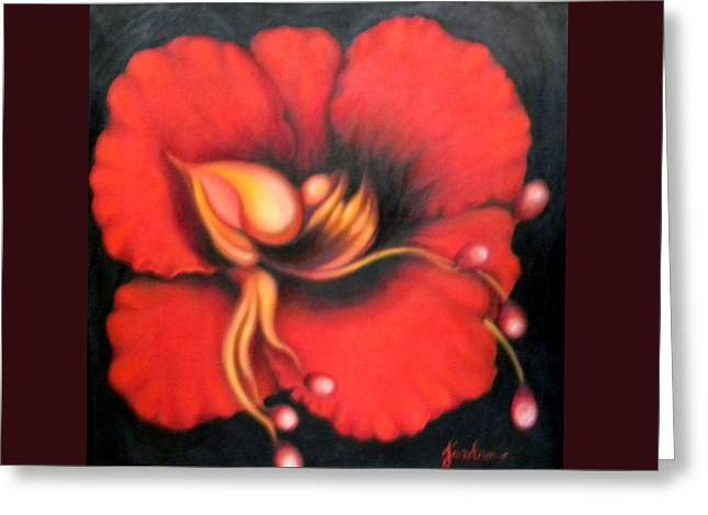 Passion Flower Greeting Card by Jordana Sands