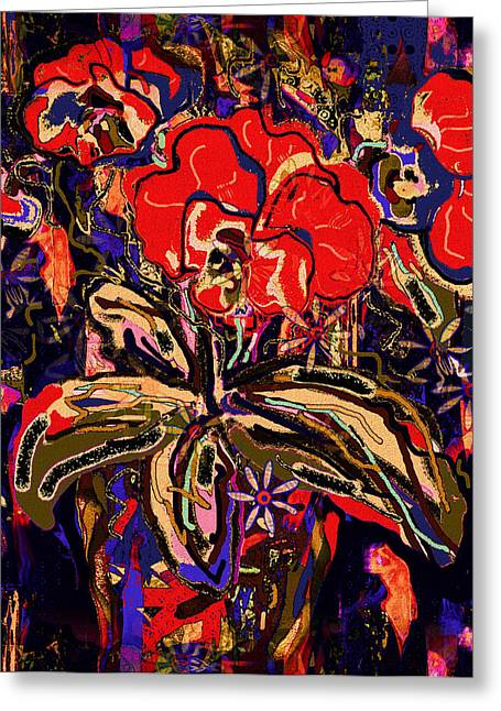 Passion Flowers Bouquet Greeting Card