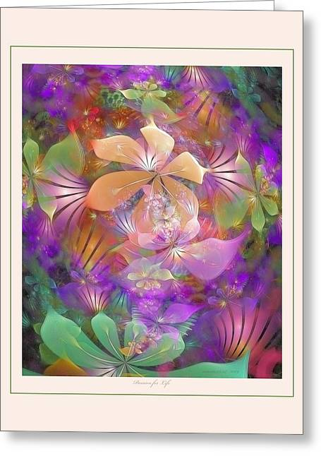 Apophysis Pastels Greeting Cards - Passion for Life Greeting Card by Gayle Odsather