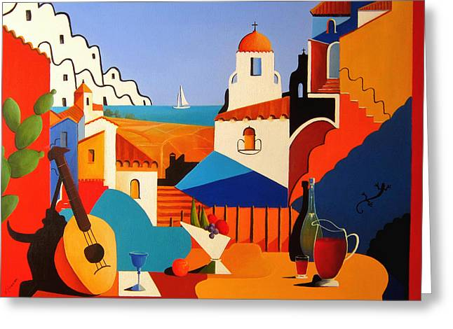 Passion For Life Spain Greeting Card