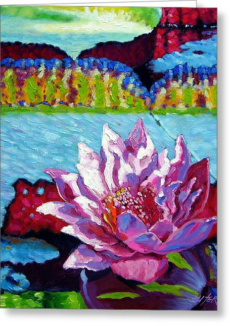 Passion For Light And Color Greeting Card by John Lautermilch