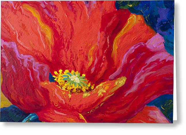 Reds Greeting Cards - Passion II Greeting Card by Marion Rose
