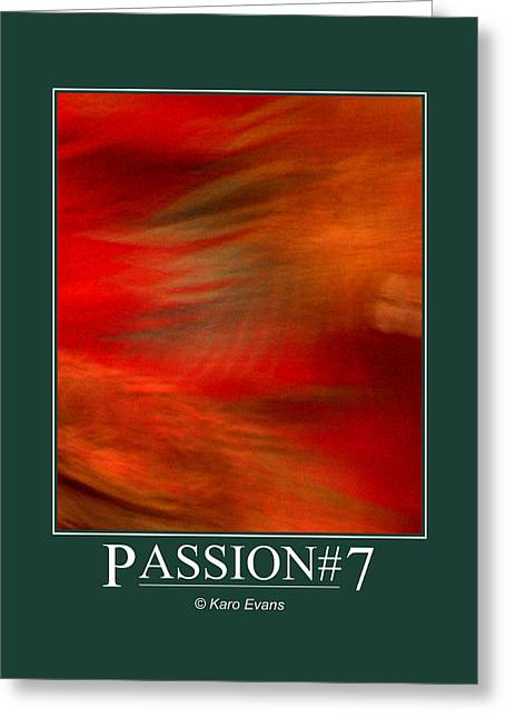 Greeting Card featuring the digital art Passion#7 by Karo Evans
