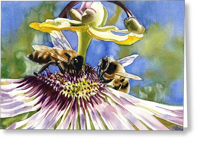 Passionate Bee Greeting Card