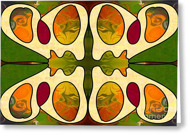 Passionate Devotion Abstract Art By Omashte Greeting Card by Omaste Witkowski