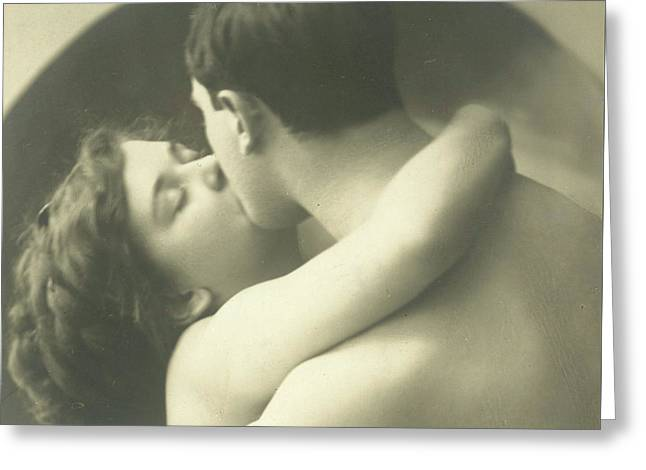 Passionate Kiss Greeting Card by French School