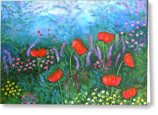 Passionate Poppies Greeting Card by Alanna Hug-McAnnally