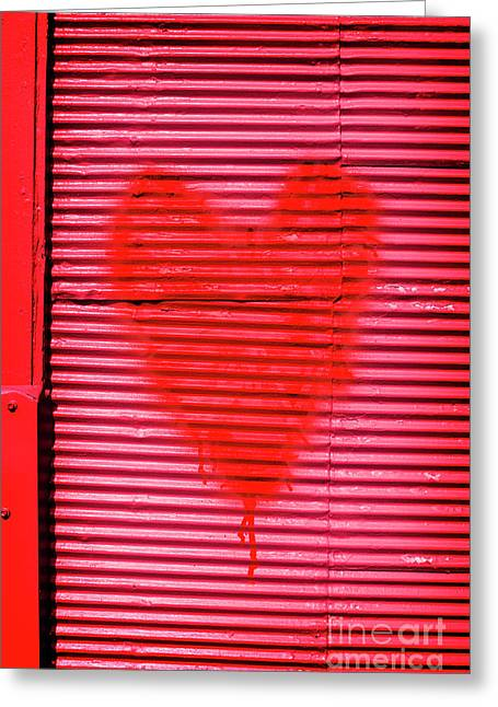 Passionate Red Heart For A Valentine Love Greeting Card