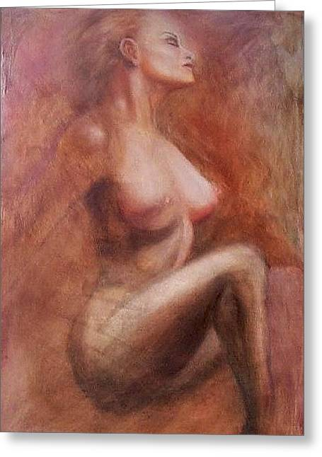 Passionate Woman Greeting Card by Elizabeth Silk